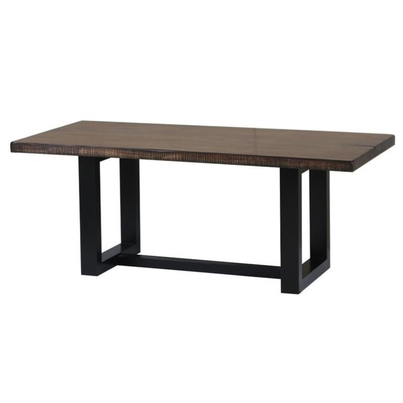 Coaster Westbrook Casual Rustic Dining Table in Brown Black