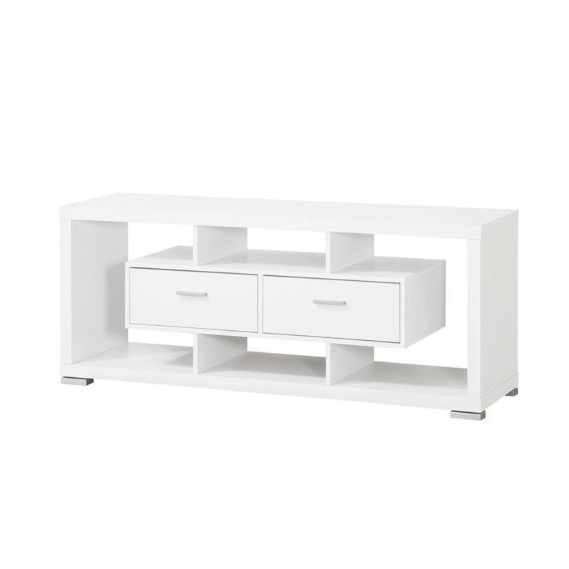 Coaster Modern 59 2 Drawer TV Stand in White