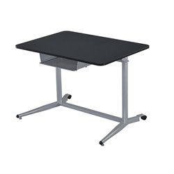 Coaster Height Adjustable Standing Desk with Storage in Silver