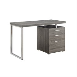 Coaster Hilliard 3 Drawer Computer Desk in Weathered Gray