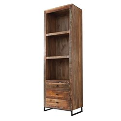 Coaster 3 Drawer 3 Shelf Bookcase in Reclaimed Wood