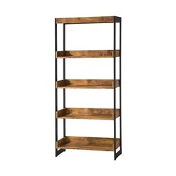 Coaster Estrella 4 Shelf Bookcase in Antique Nutmeg