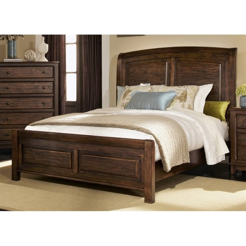 Coaster Laughton California King Sleigh Bed in Cocoa Brown