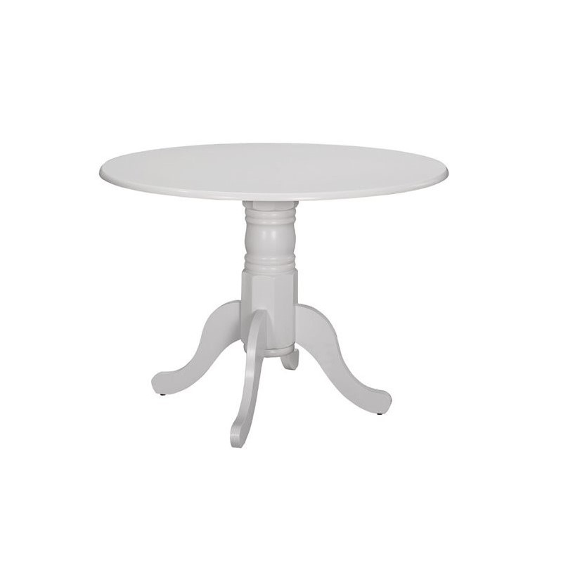 Coaster Allston Round Dining Table in White