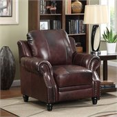 Coaster Furniture Tri-tone Brown Top Grain Leather Recliner Chair