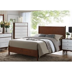 Coaster Oakwood Queen Panel Bed in Golden Brown and White
