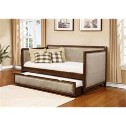 Coaster Upholstered Twin Side Daybed in Rich Amber