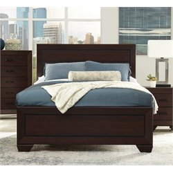 Coaster Fenbrook King Panel Bed in Dark Cocoa