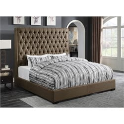 Coaster Uphostered California King Panel Bed in Brown