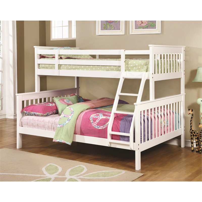 Coaster Twin Over Full Bunk Bed in White