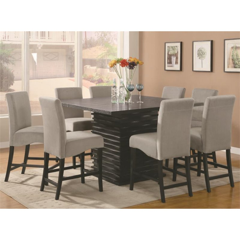 Coaster Stanton 5 Piece Counter Height Dining Set in Black