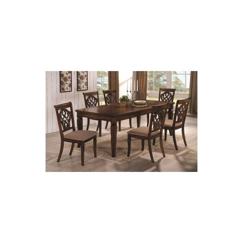 Coaster 5 Piece Dining Set in Oak