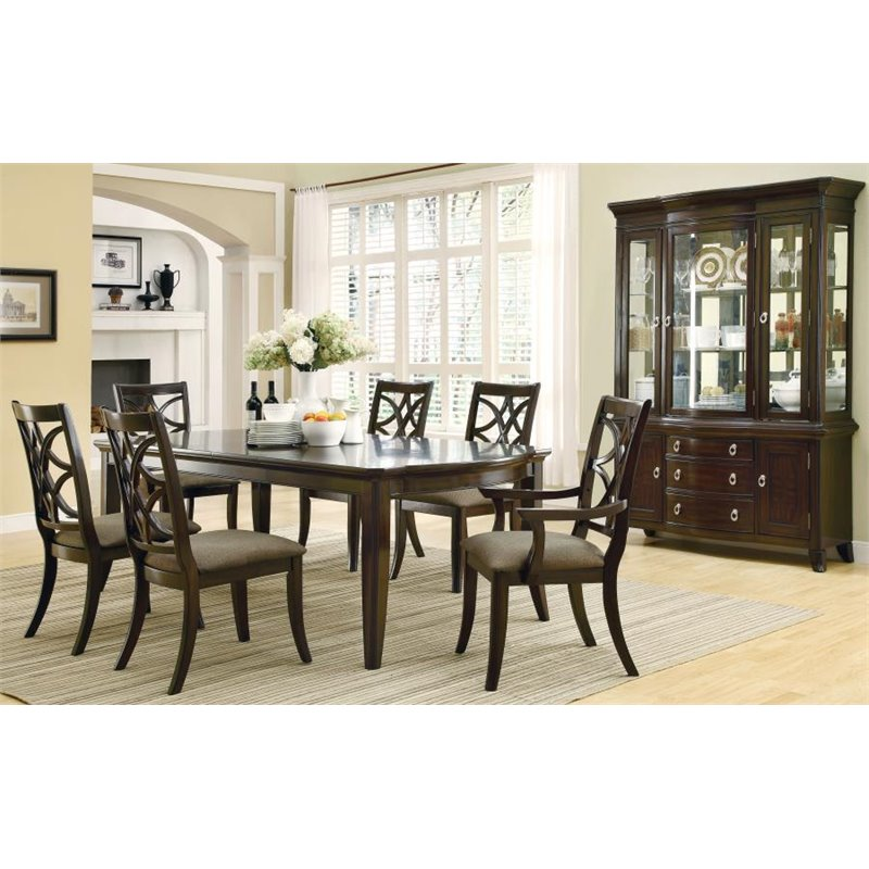 Coaster Meredith 7 Piece Dining Set in Espresso