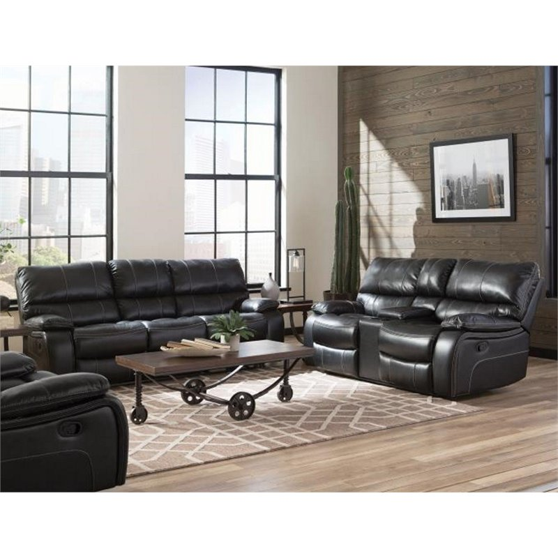 Coaster Willemse 2 Piece Faux Leather Reclining Sofa Set