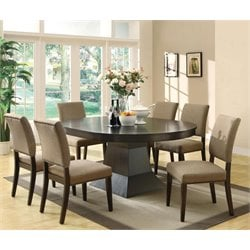 Coaster Myrtle 5 Piece Extendable Dining Set in Cappuccino