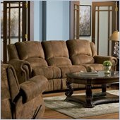 Coaster Rawlinson Double Reclining Sofa in Brown Microfiber