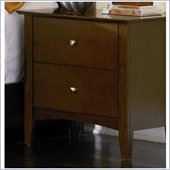 Coaster Tamara Contemporary 2 Drawer Nightstand in Dark Walnut