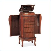 Coaster Elegant Antique Cherry Jewelry Armoire in Light Cherry
