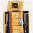ADD TO YOUR SET: Coaster Seven Drawer Deluxe Jewelry Armoire in Light Oak