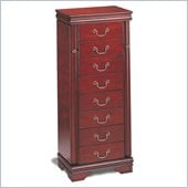 Coaster Louis Philippe Jewelry Armoire in Cherry