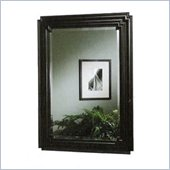 Coaster Wall Mirror with Wooden Black Frame