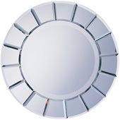 Coaster Round Wall Mirror With Sun Shape Frame
