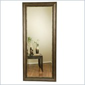 Coaster Contemporary Narrow Rectangular Black and Silver Mirror