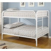 Coaster Rustic White Metal Full over Full Bunk Bed