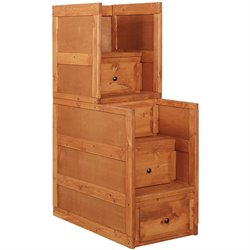 Coaster Wrangle Hill Bunk Bed Stairway Chest in Amber Wash