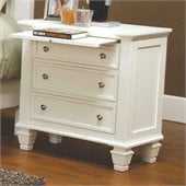 Coaster Classic Nightstand in White