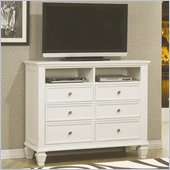 Coaster Classic Media Chest in White
