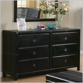 Coaster Upholstered Dresser in Dark Brown Bycast