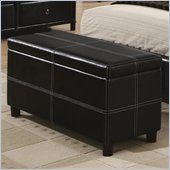 Coaster Danielle Upholstered Bench in Black