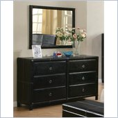 Coaster  Danielle  Dresser and Mirror Set in Dark Brown Bycast