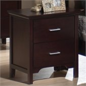 Coaster  2 Drawer Nightstand in Mahogany Finish
