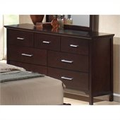 Coaster Kendra 7 Drawer Double Dresser in Mahogany Finish