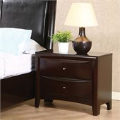 Coaster Phoenix Two Drawer Nightstand in Rich Cappuccino Finish