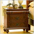 ADD TO YOUR SET: Coaster  Two Drawer and One Tray Nightstand in Rich Brown