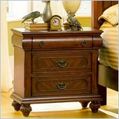 Coaster  Two Drawer and One Tray Nightstand in Rich Brown