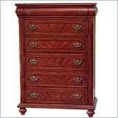 Coaster  Five Drawer Chest in Rich Brown