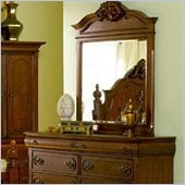 Coaster Isabella Six Drawer Dresser and Mirror Set in Rich Brown