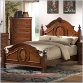 Coaster Richardson Low Post Panel Bed in Rich Caramel Finish