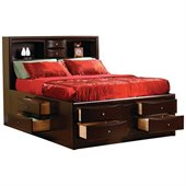 Coaster Phoenix Bookcase Storage Bed in Rich Cappuccino Finish