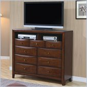 Coaster Hillary and Scottsdale Media Chest in Warm Brown Finish