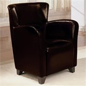 Coaster Accent Seating Brown Vinyl Chair