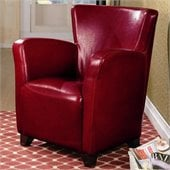 Coaster Accent Seating Chair in Red Vinyl
