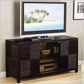 Coaster Cappuccino Contemporary TV Stand Console  with Doors