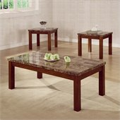 Coaster Occasional Table 3 Piece Set with Marble Look Top