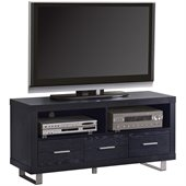 Coaster Black 47 Inch Contemporary Media Console with Shelves and Drawers