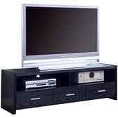Coaster Black 61 Inch Contemporary Media Console with Shelves and Drawers